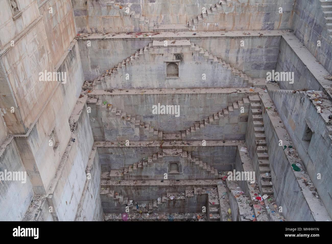 Nagar Sagar Kund Stepwell. Bundi, Rajasthan, India - Stock Image