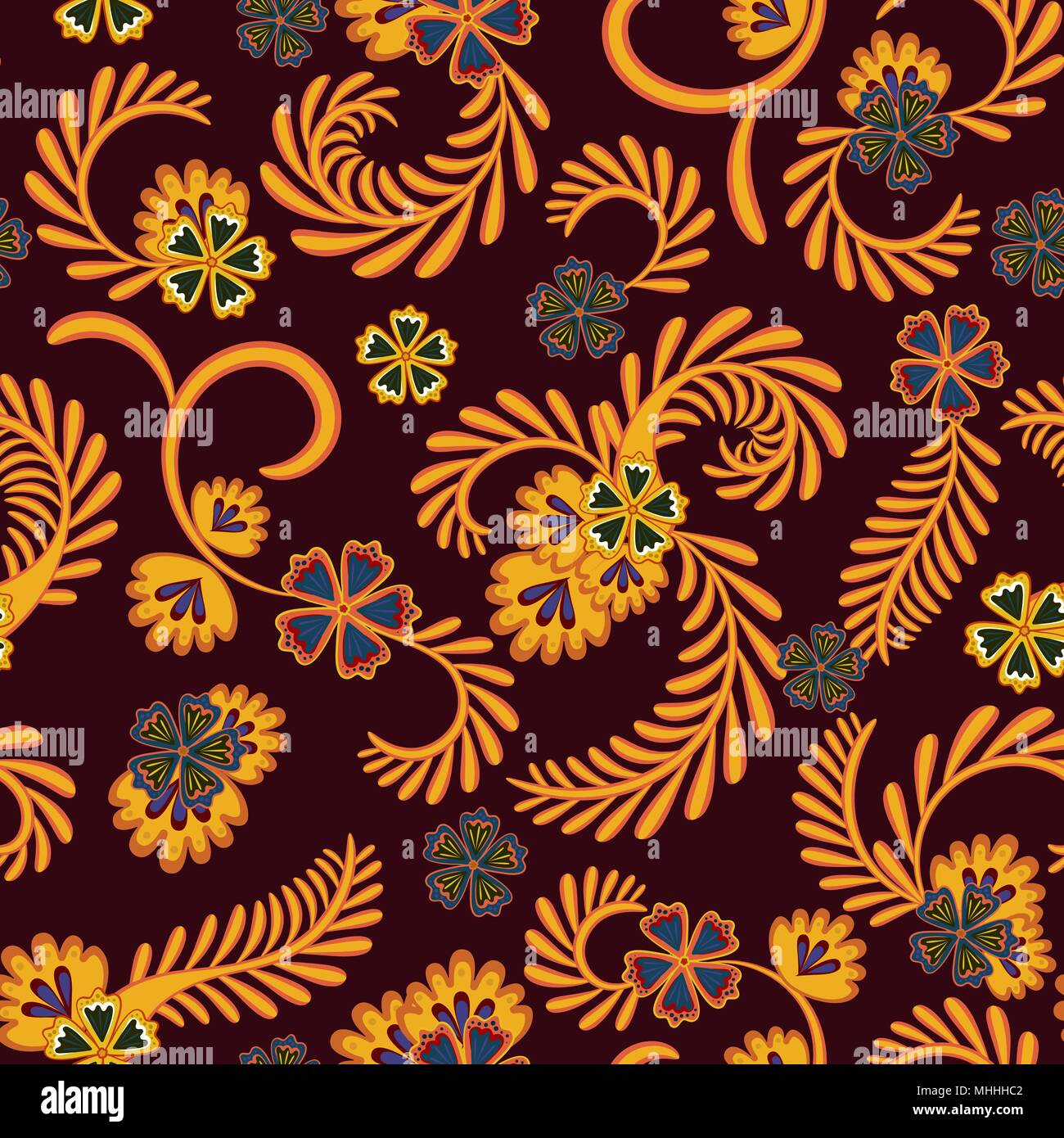 A simple floral pattern, convenient for editing and repainting