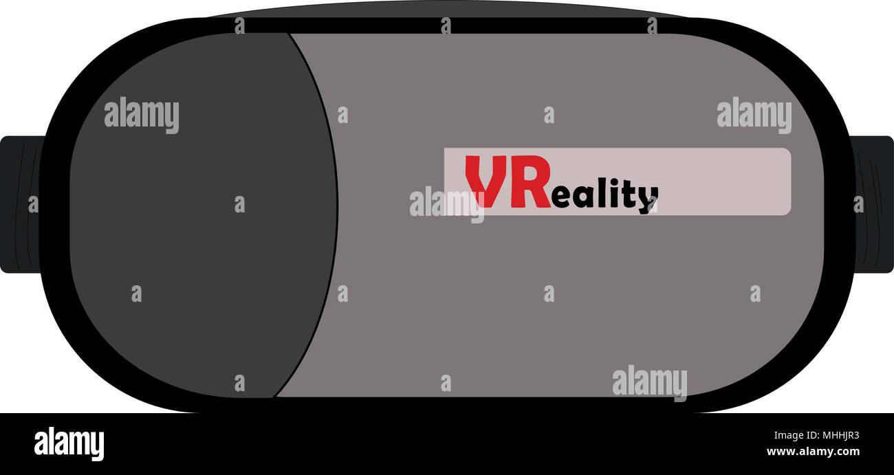 bd57c6275565 Virtual Reality or VR glasses in black and grey colors for 3D video games.  Vector or illustration with gaming concept of virtual reality.