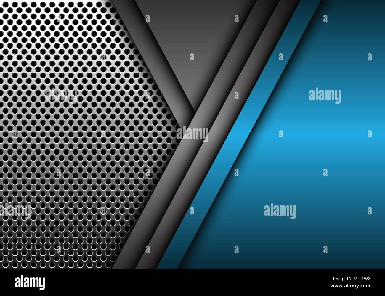 3d Blue Abstract Mesh Background Circles Stock Vektor: Abstract Blue Gray Metal Overlap On Circle Mesh Pattern
