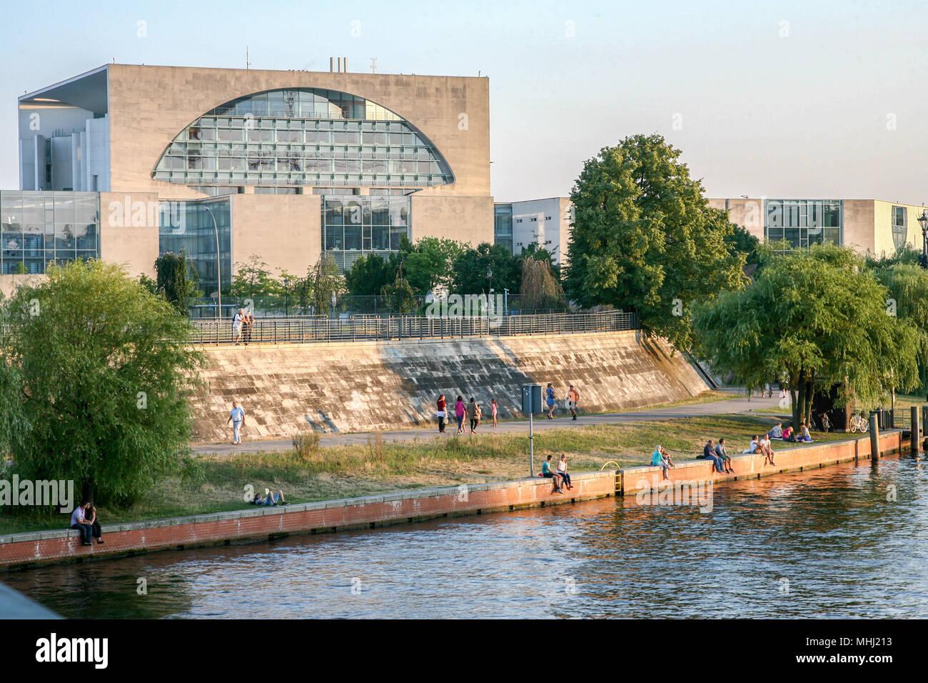 Ein Sommerabend in Berlin - Stock Image