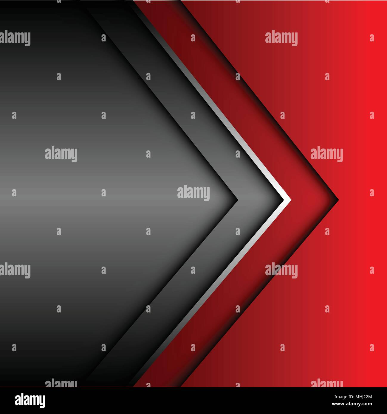 Abstract Red Silver Gray Arrow Design Modern Futuristic Background