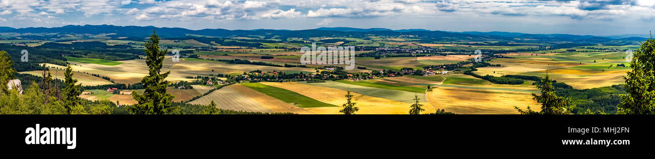 Summer panoramic view of Adrspach-Teplice rocks/Czech Republic/ - Stock Image