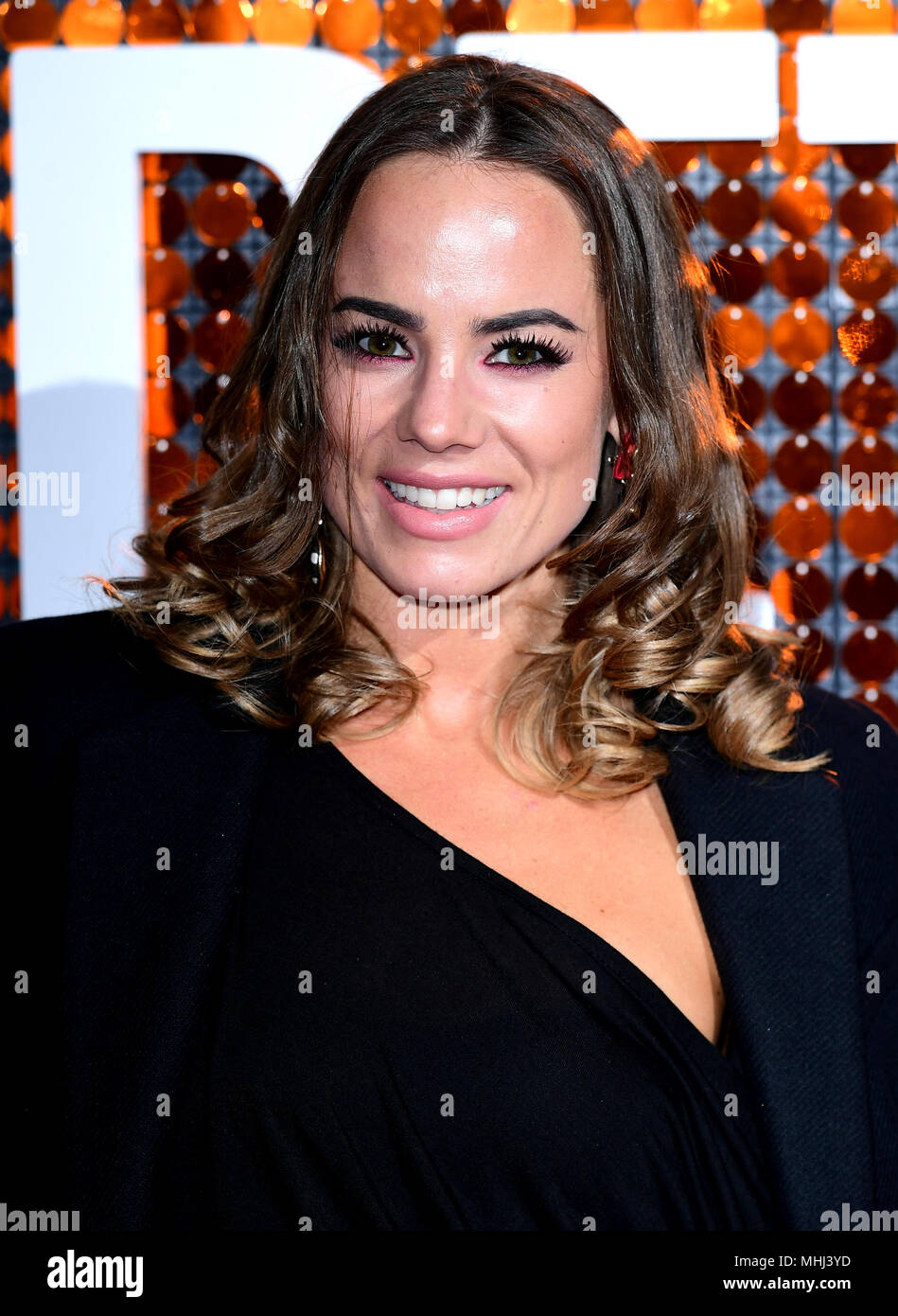 Emma Conybeare attending the special screening of I Feel Pretty held at the Picturehouse Central, Piccadilly, London. PRESS ASSOCIATION Photo. Picture date: Tuesday May 1, 2018. Photo credit should read: Ian West/PA Wire - Stock Image