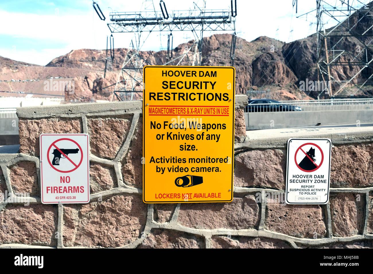 Hoover Dam Near Las Vegas Stock Photos & Hoover Dam Near Las Vegas