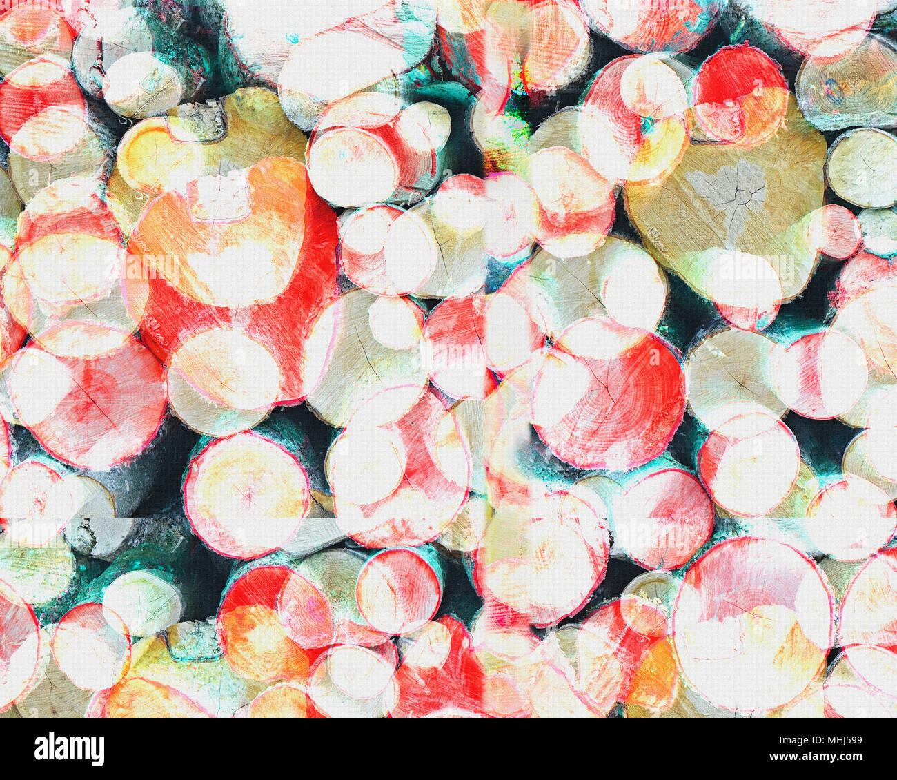 DIGITAL ART: Forest Pile - Stock Image
