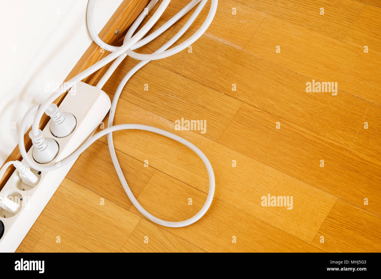 Wall Outlet Cords Stock Photos Images Alamy Australian Dual 3 Pin Socketoutlet Construction Multiple Socket On Wooden Floor Image