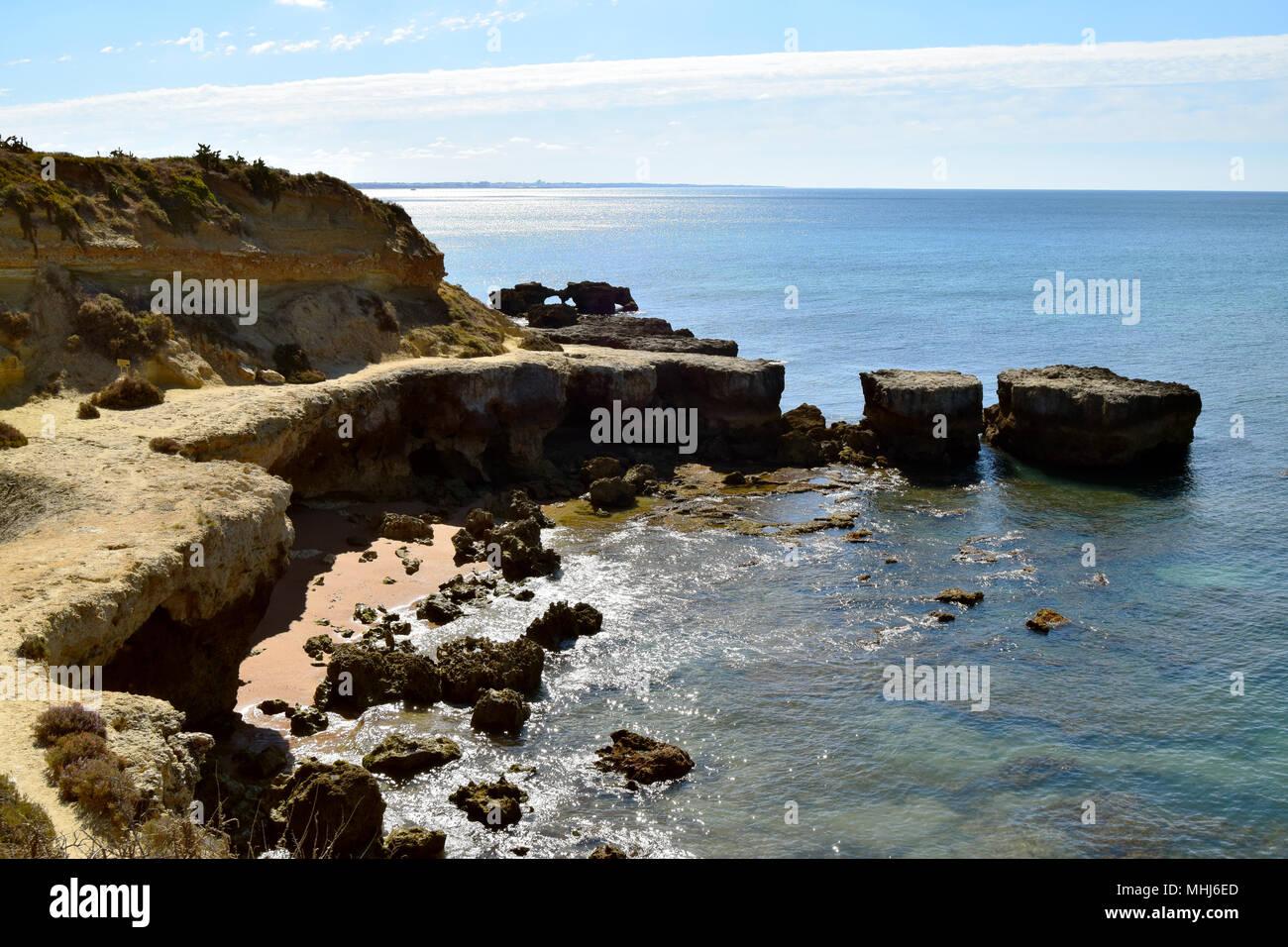 Albufeira sea in Algarve, Portugal - Stock Image