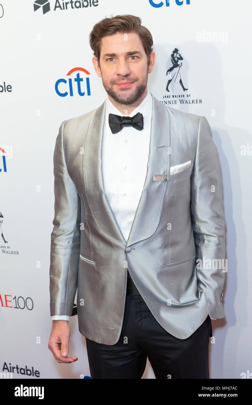 New York, NY - April 24, 2018: John Krasinski attends 2018 Time 100 Gala at Jazz at Lincoln Center - Stock Image