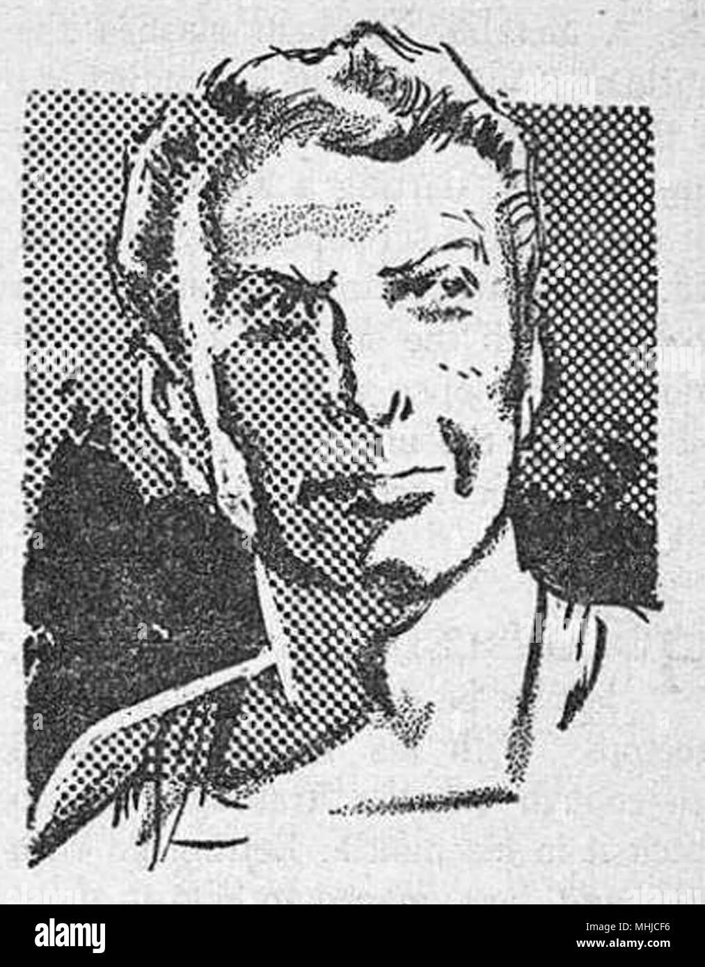 headshot of a man illustration - Stock Image