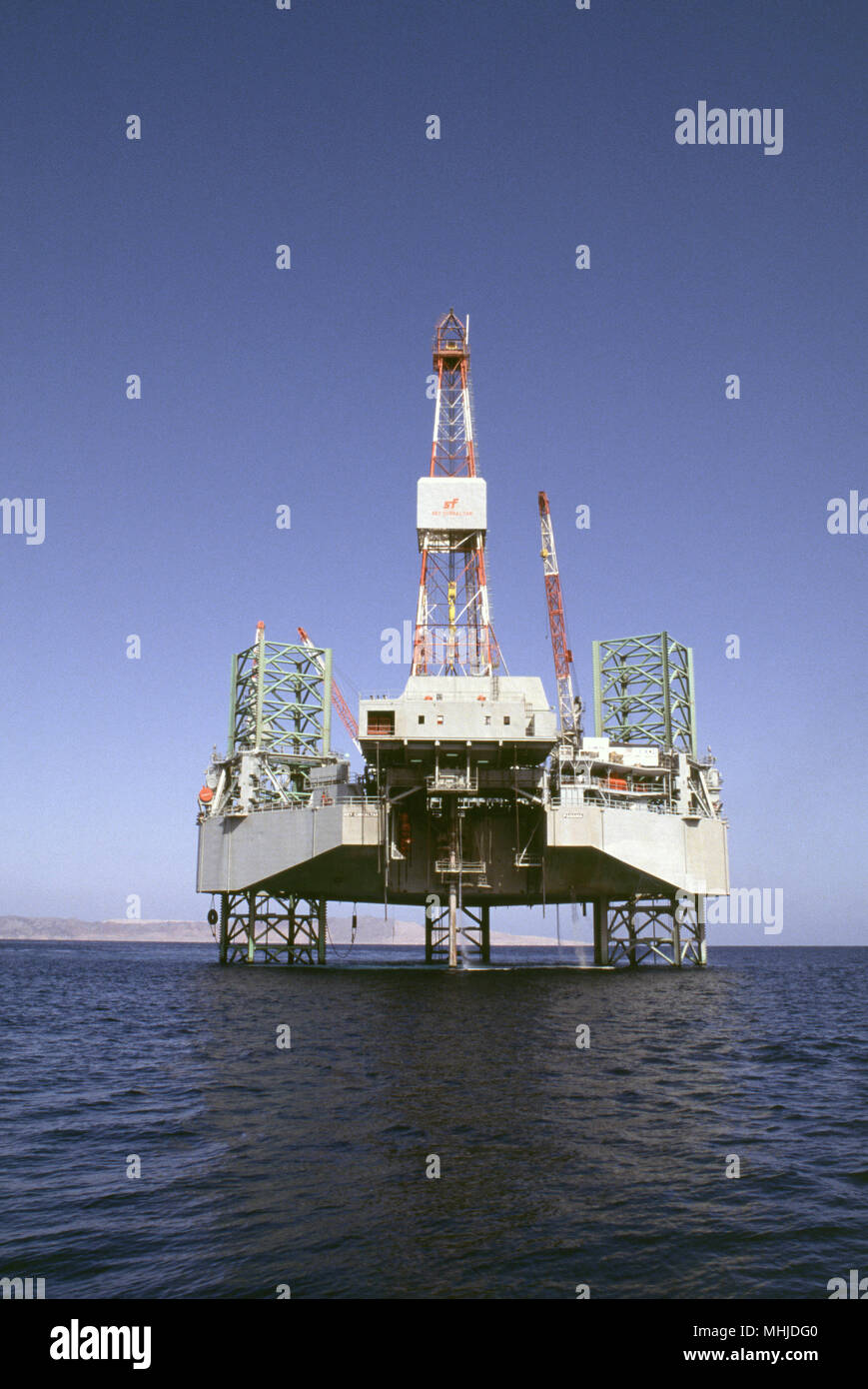 Jack-up rig Key Gibraltar drilling for oil in the Red Sea