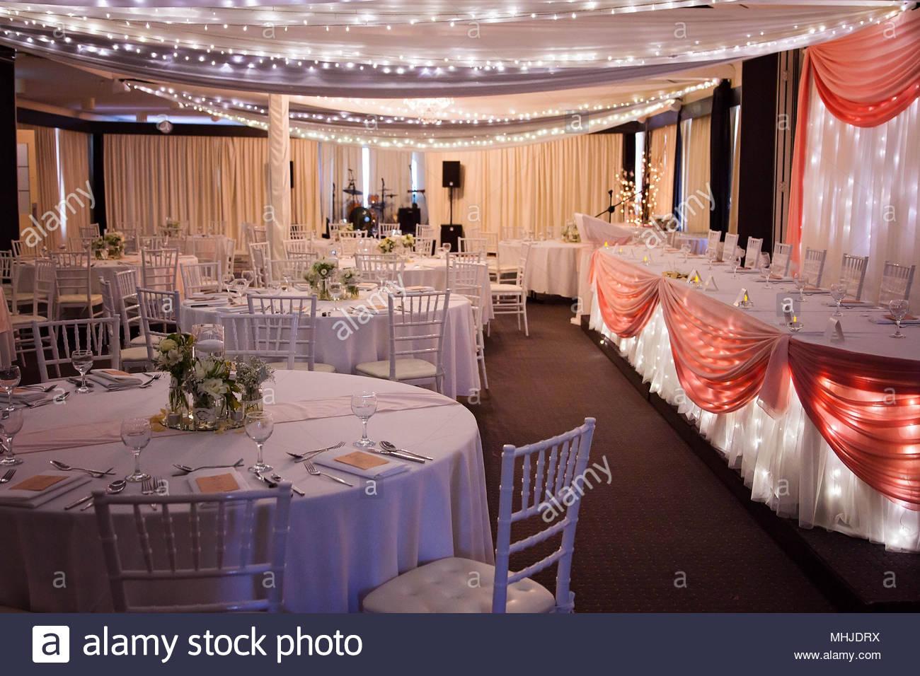 Wedding Reception Set Up Stock Photo 182958830 Alamy