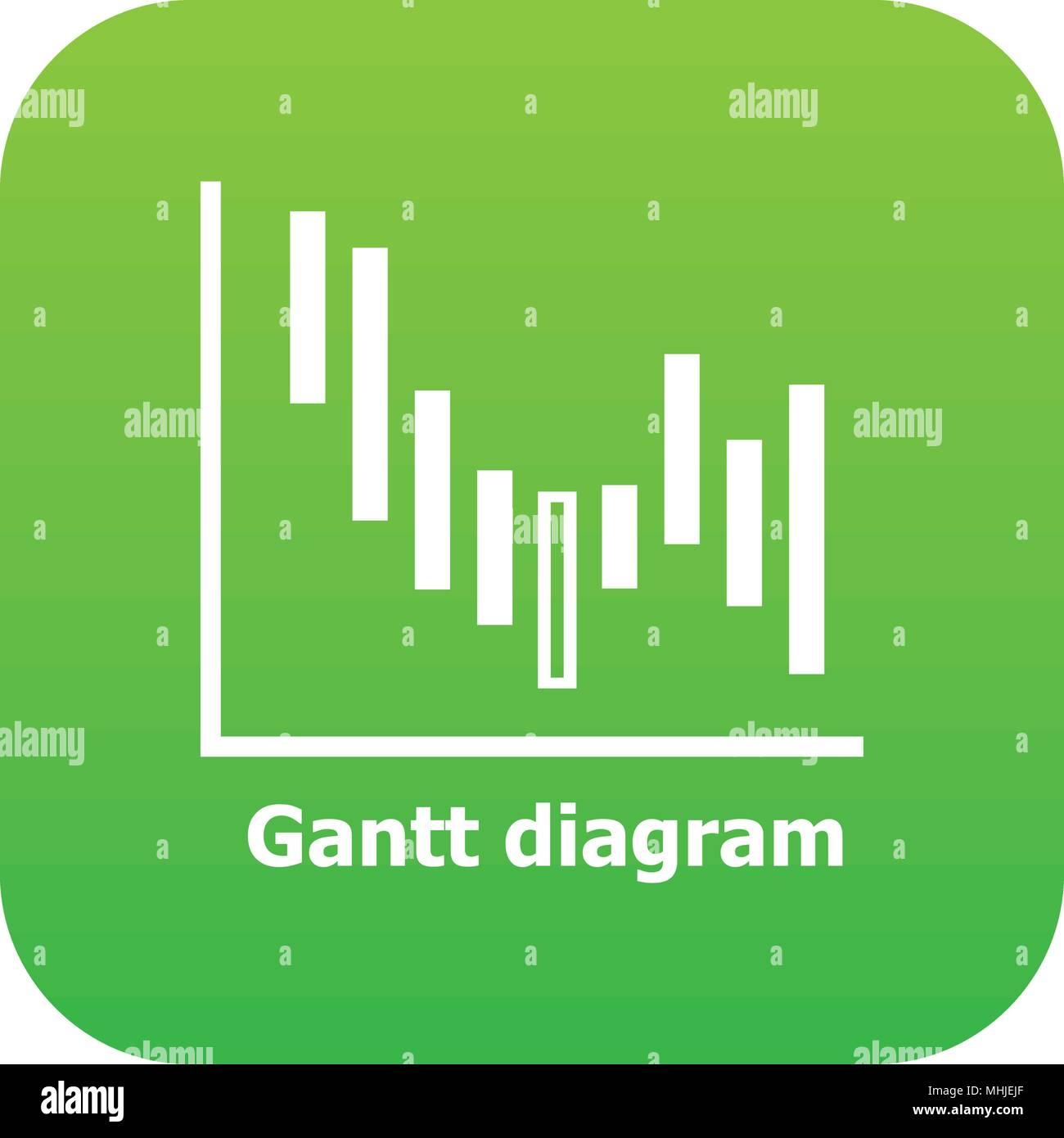 Gantt diagram icon green vector stock vector art illustration gantt diagram icon green vector ccuart Choice Image
