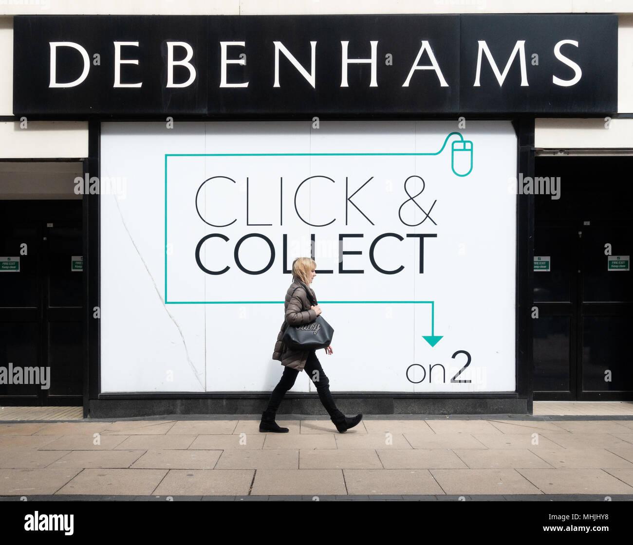 Debenhams click and collect. UK - Stock Image