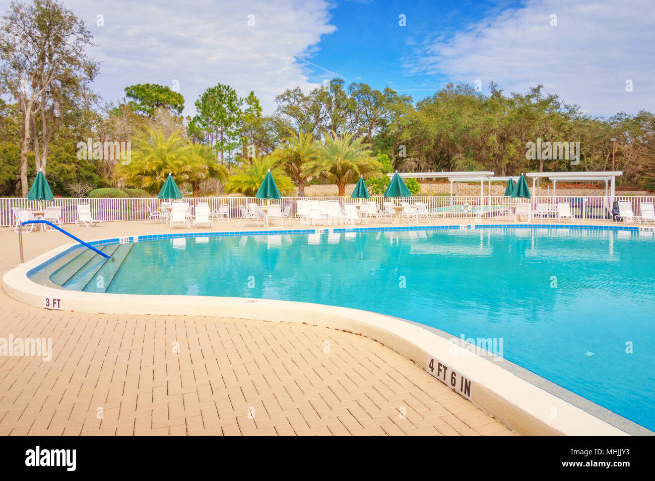 Community swimming pool stock photos community swimming - Spring hill recreation center swimming pool ...