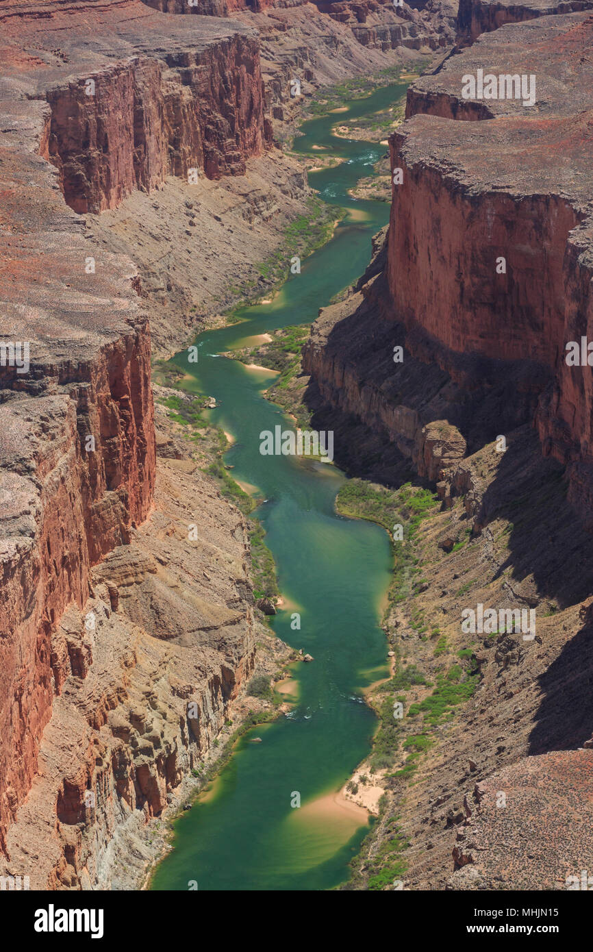 marble canyon of the colorado river in the triple alcoves area of grand canyon national park, arizona - Stock Image