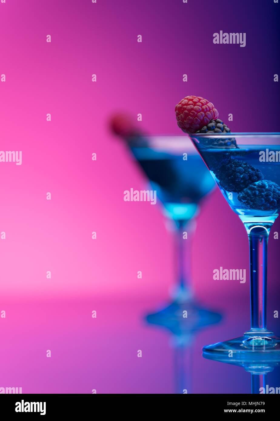 Close-Up Of Wine Glasses Against Black Background  Beer - Alcohol   Cocktail Blended Drink - Stock Image