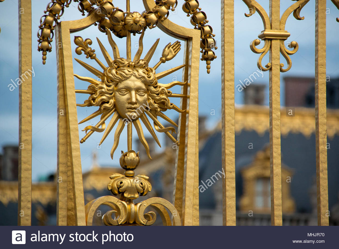 Symbol Of Louis Xiv The Sun King On The Gate Of The Courtyard Of