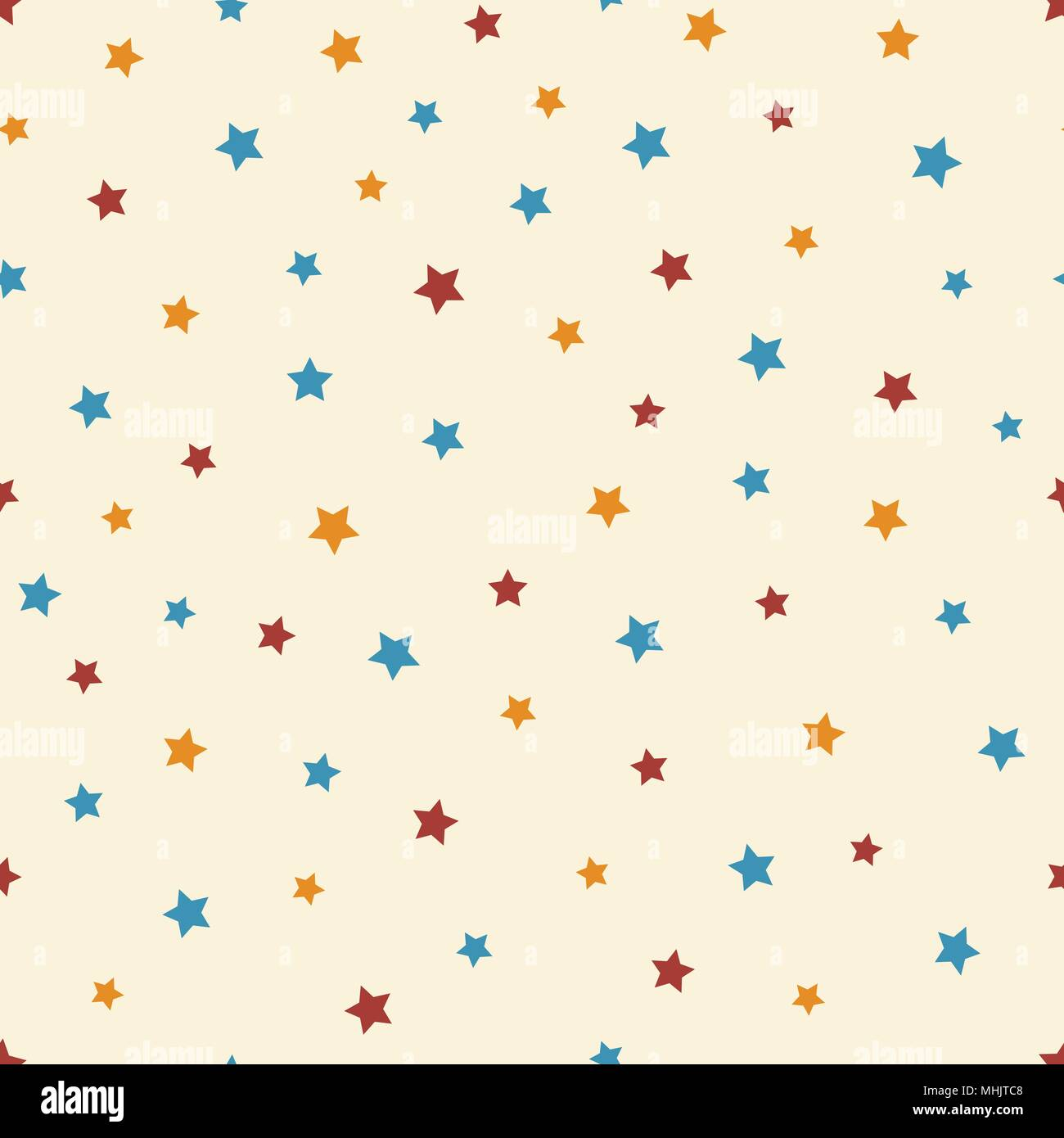 59b35b72b65b Vector abstract starry seamless pattern on the beige background. Cute blue