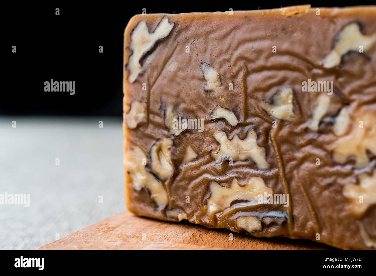 Turkish Summer Helva or Halva with walnut. Desseert Concept. - Stock Image