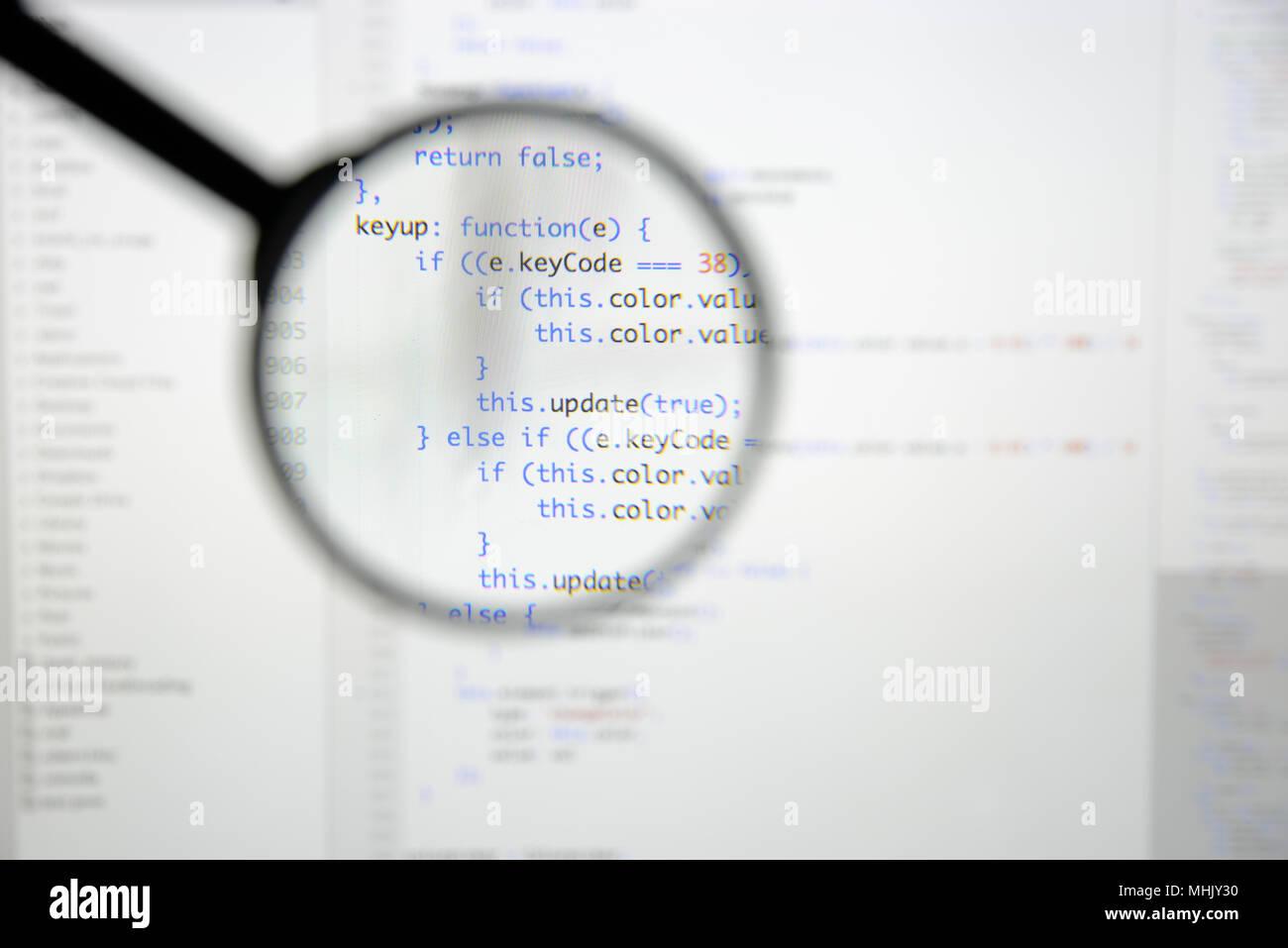 Real Java Script code developing screen  Programing workflow