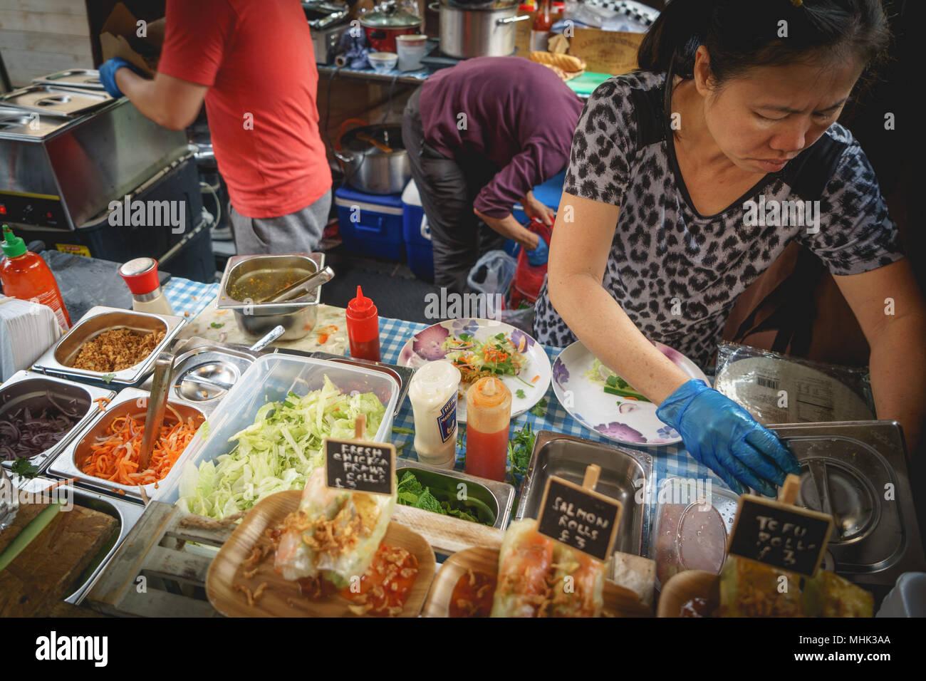 4f2796ea347e Asian street food stall in Greenwich Market. Landscape format.
