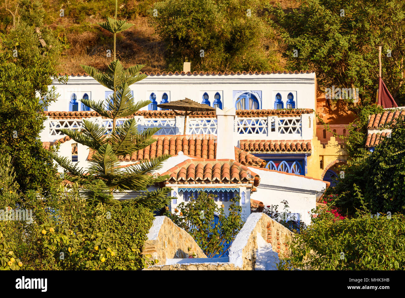 Hotel in Chefchaouen, Morocco. - Stock Image