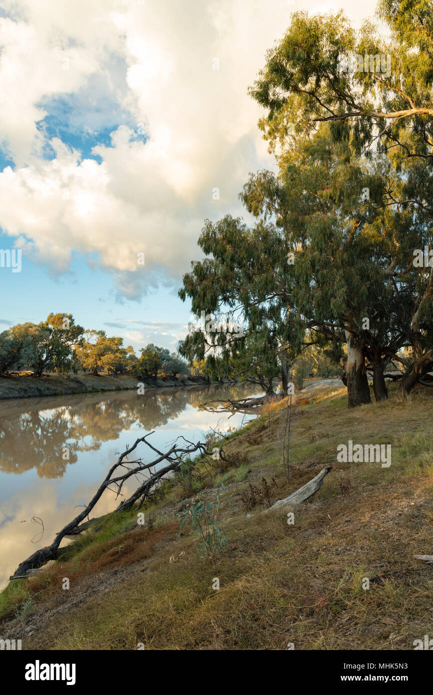 Bourke, New South Wales, Australia. Darling River at sunrise  near Bourke in north western New South Wales. - Stock Image