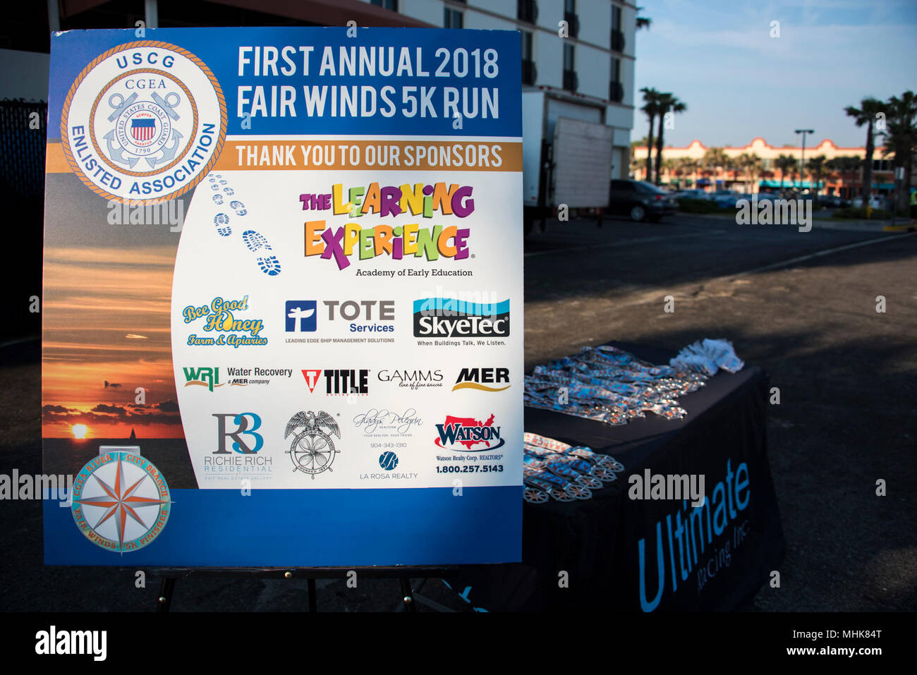 Fairwinds Customer Service >> A Sign Thanking The Sponsors Of The Fair Winds 5k Held On