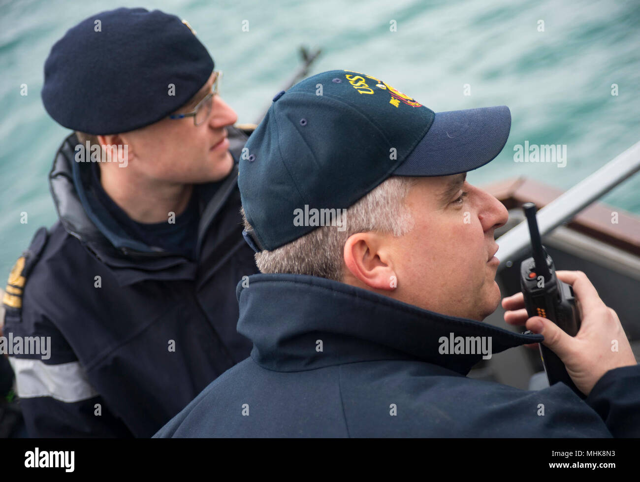 ATLANTIC OCEAN (March 24, 2018) Command Master Chief Richard James