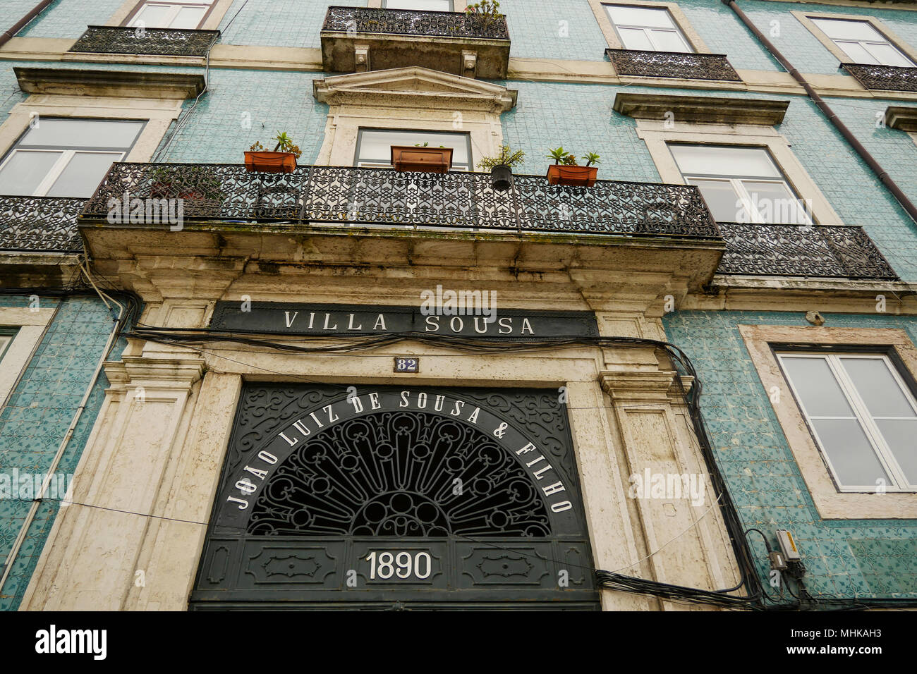 Villa Sousa, Alfama district, Lisbon, Portugal - Stock Image