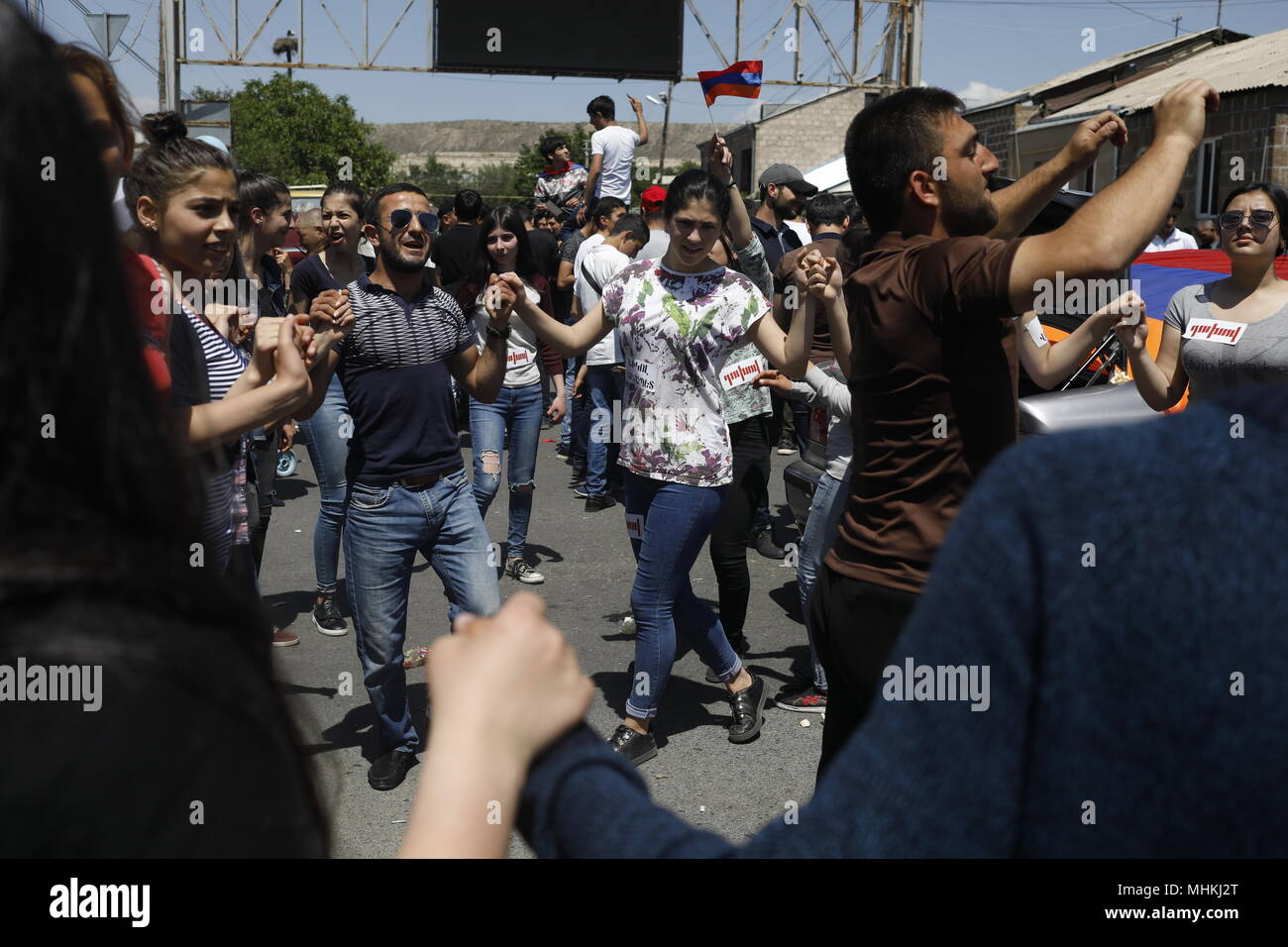Armenia  02nd May, 2018  Residents of the village of Parakar