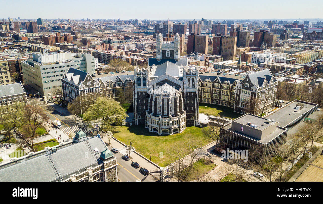 Shepard Hall, City College of New York, City University of New York Campus, NYC, USA - Stock Image
