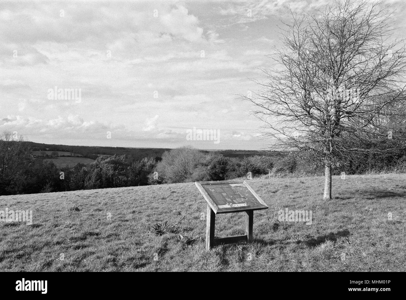 Countryside at Kingsmead open space at Battle, near Hastings, East Sussex, UK - Stock Image