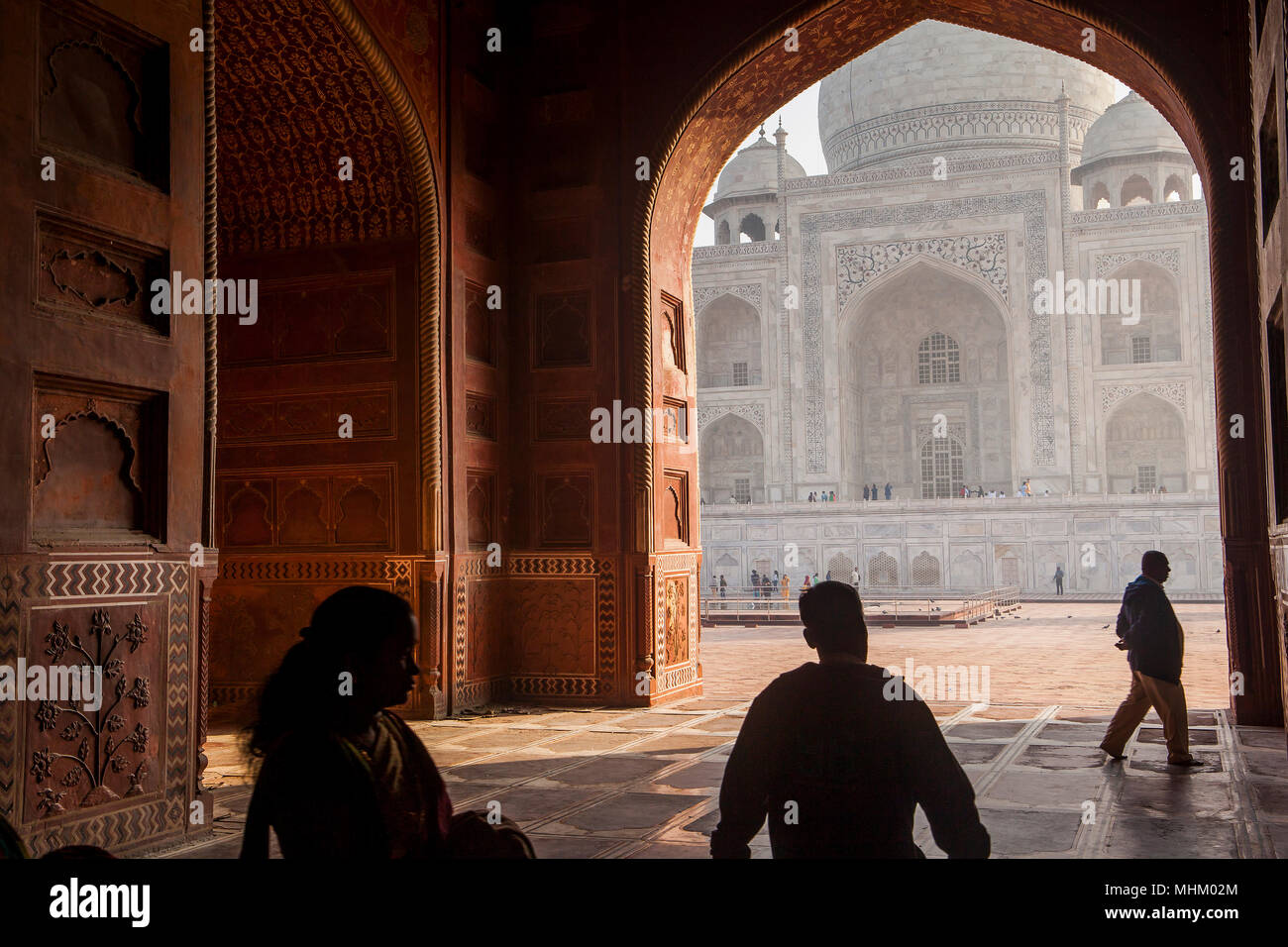 Gate, door, gateway, frame, framing, Taj Mahal, UNESCO World ...