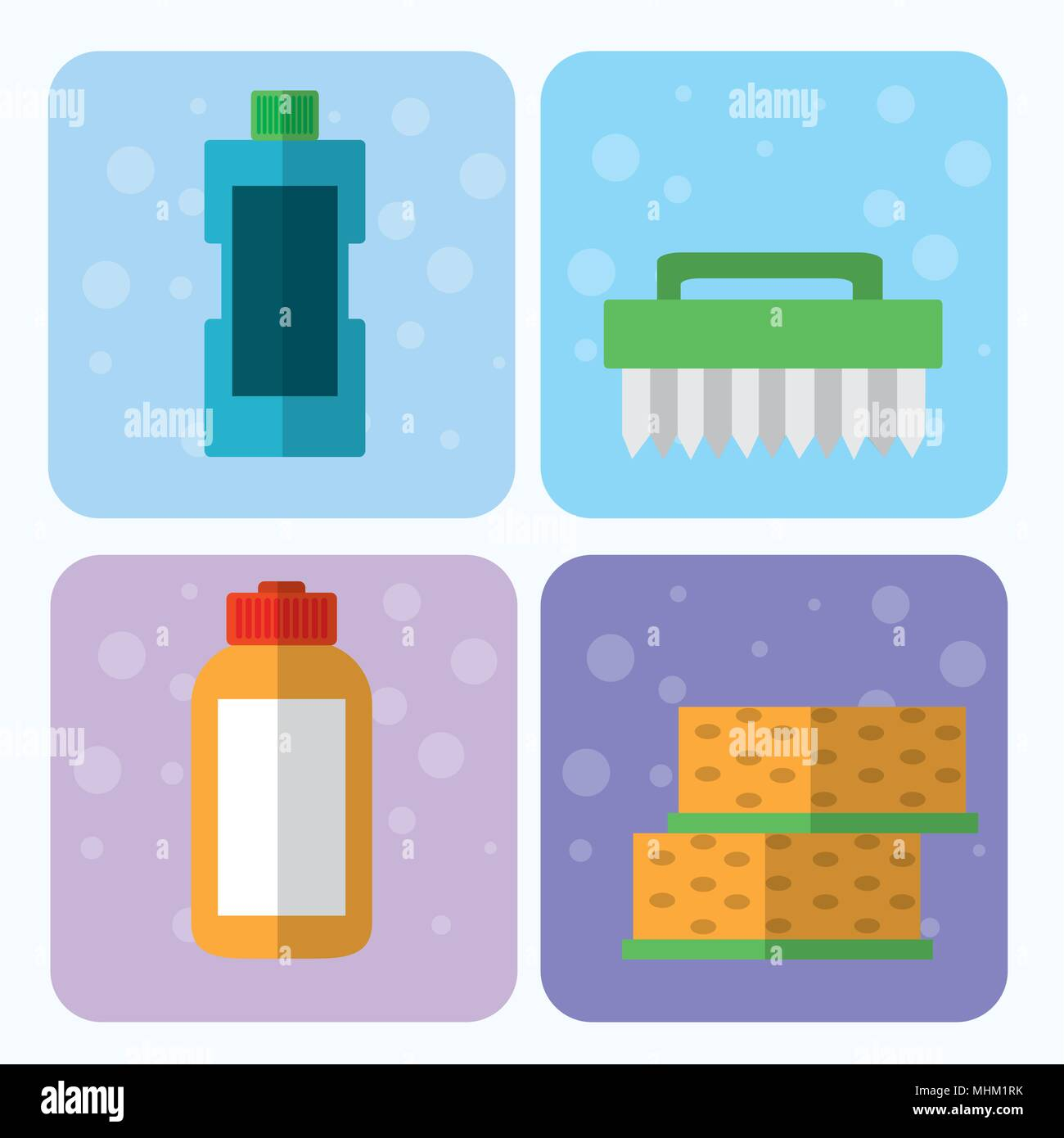 Set of cleaning appliances - Stock Image