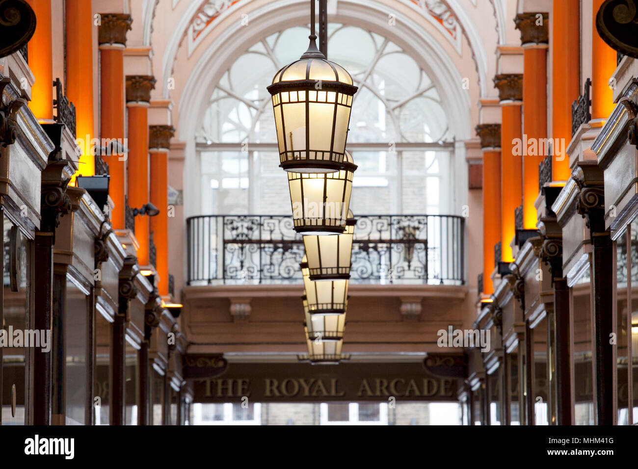 The Royal Arcade London W1 Stock Photo