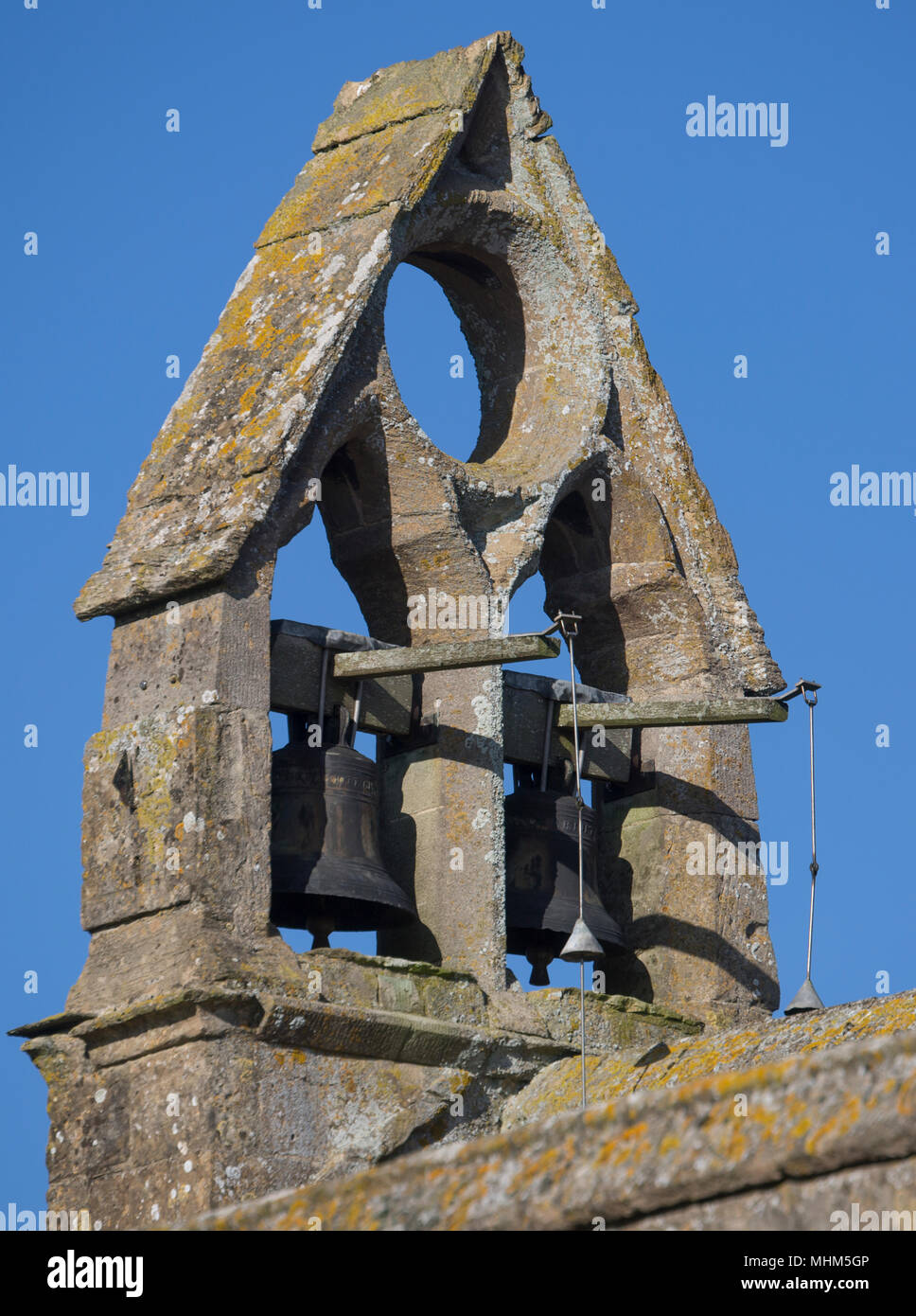 Ancient church bells - Stock Image