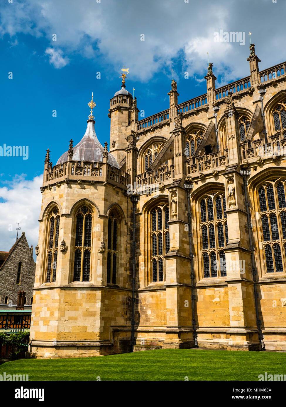 St Georges Chapel, (location of 2018 Royal Wedding), Windsor Castle, Windsor, Berkshire, England - Stock Image