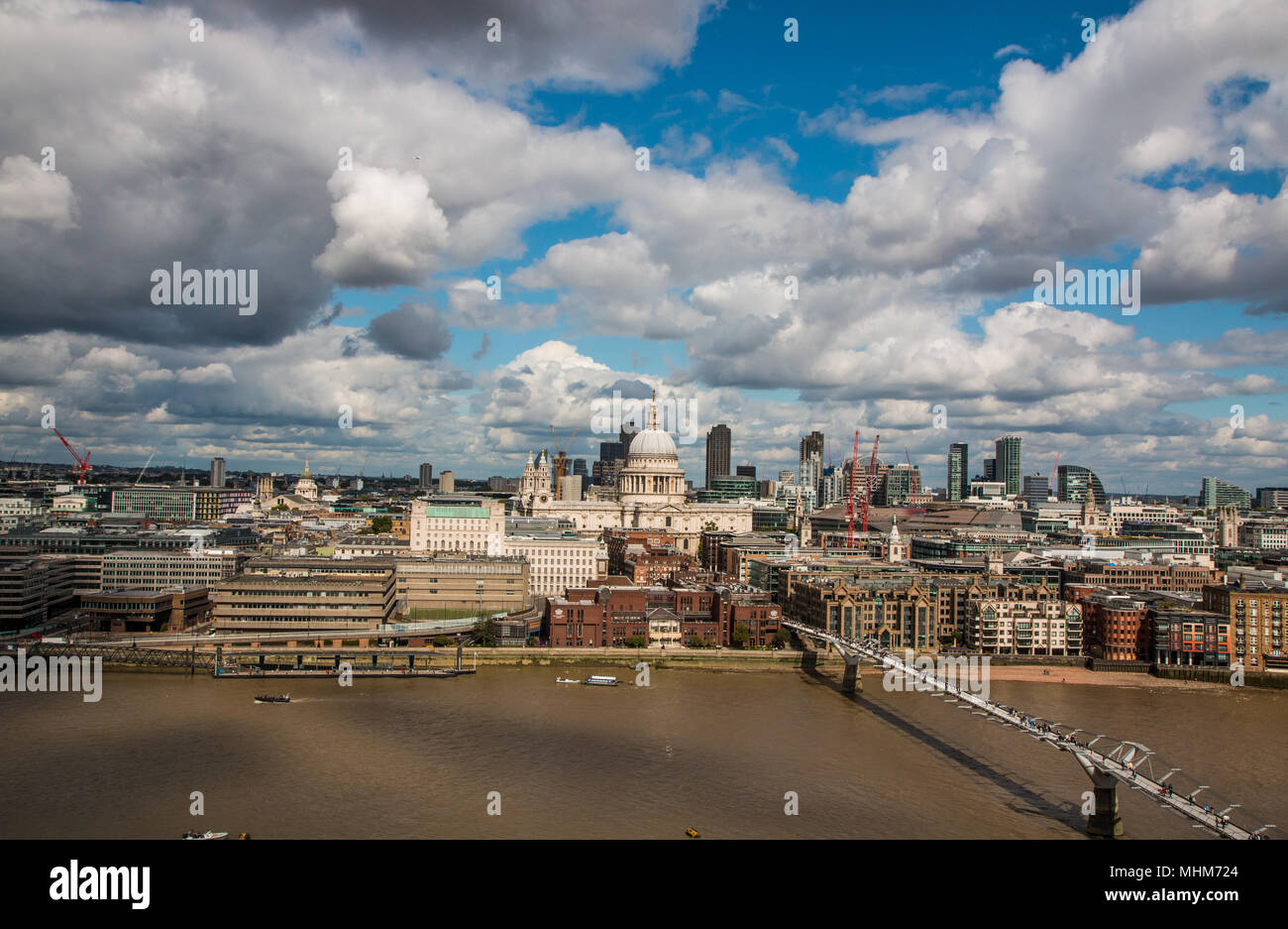 View from the Tate modern - London uk - Stock Image