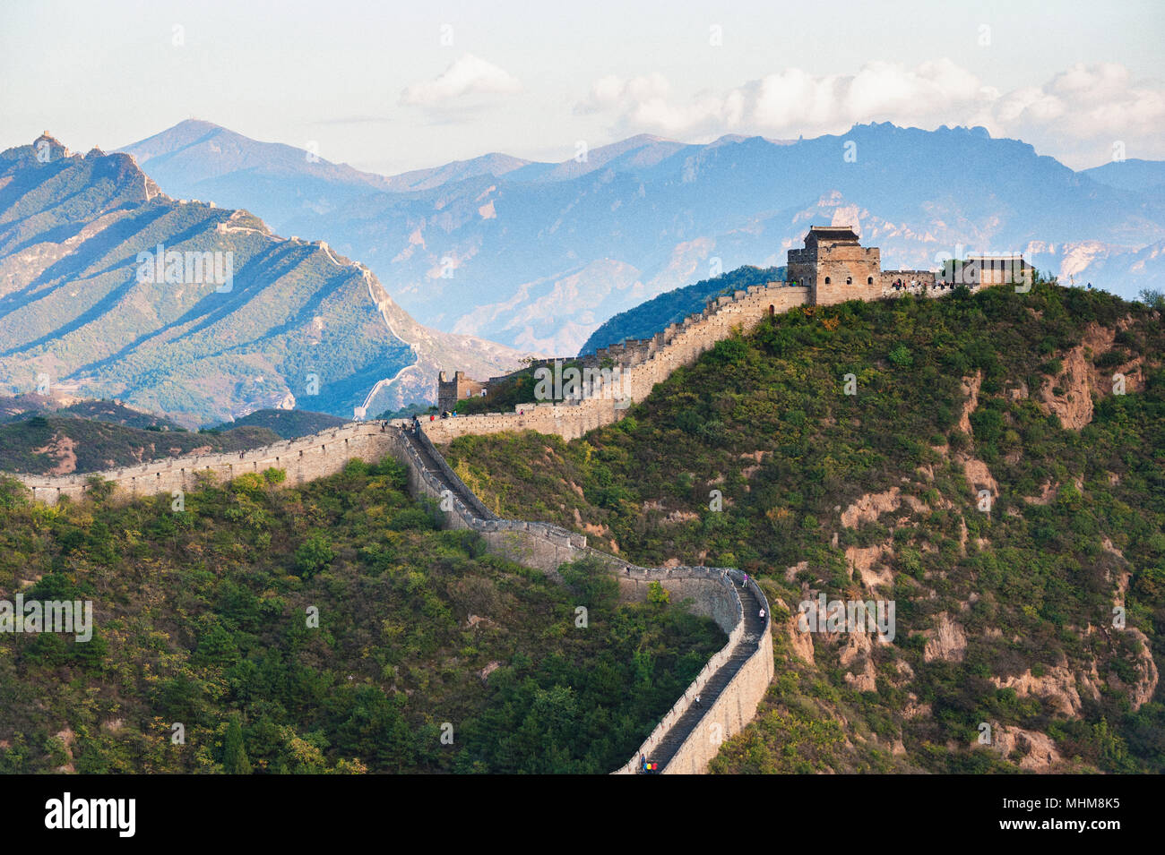 Jinshanling Great Wall, Hebei of china - Stock Image