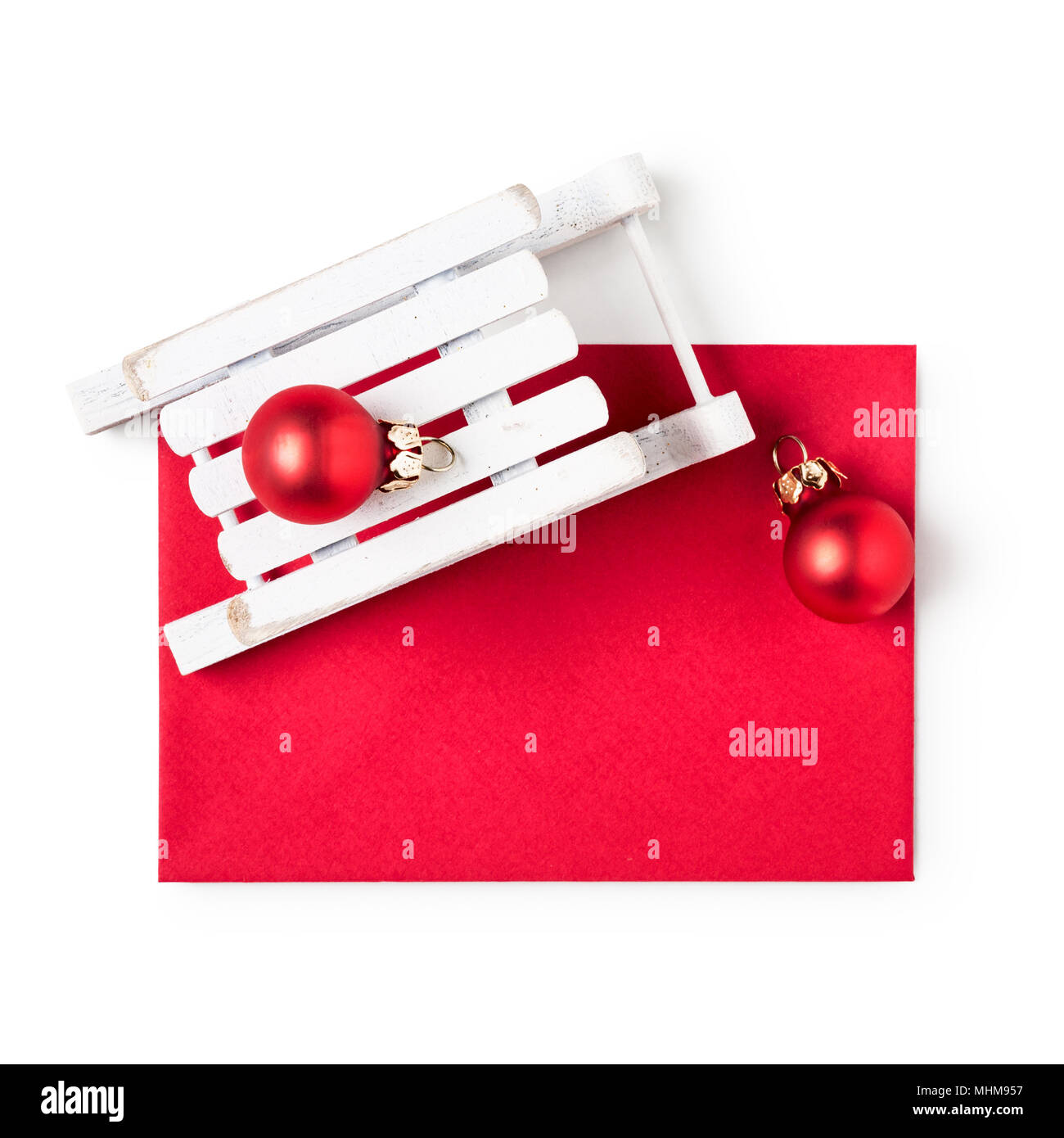 Letter And Christmas Baubles Isolated Stock Photos Letter And