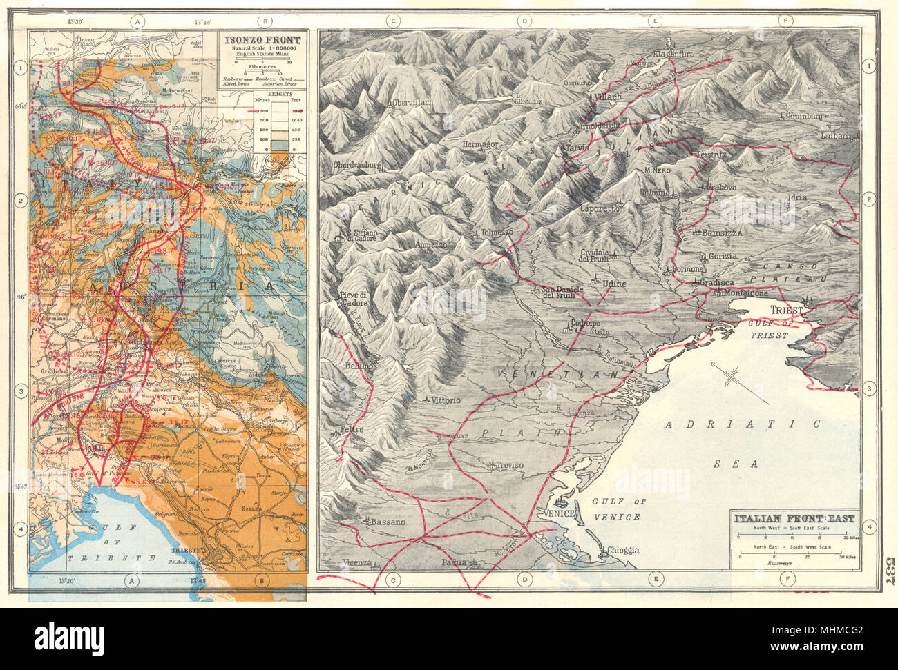 Italyalian front eastisonzo front first world war 1 battle italyalian front eastisonzo front first world war 1 battle lines 1920 map gumiabroncs Image collections