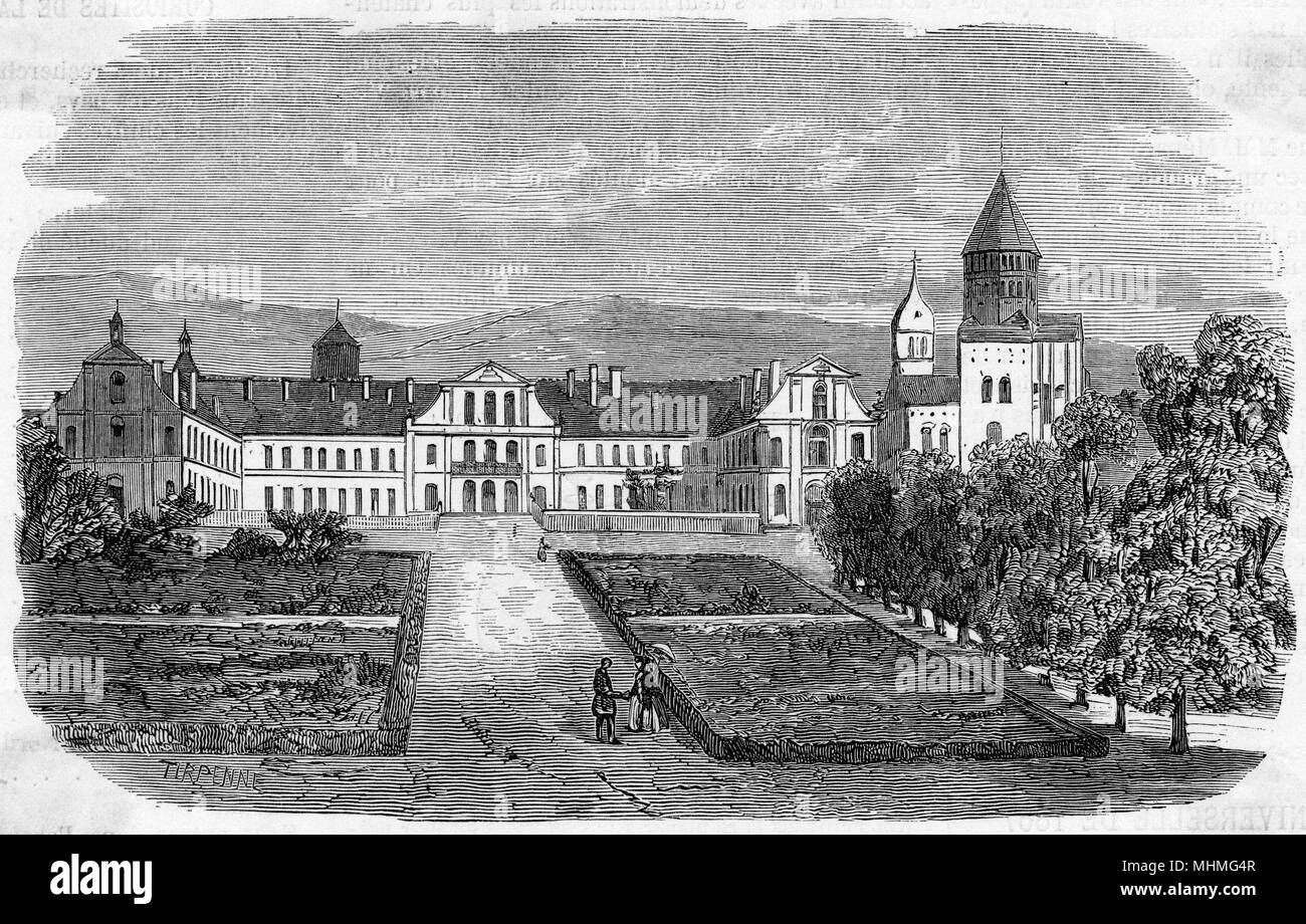 Cluny Abbey, France     Date: 1866 - Stock Image