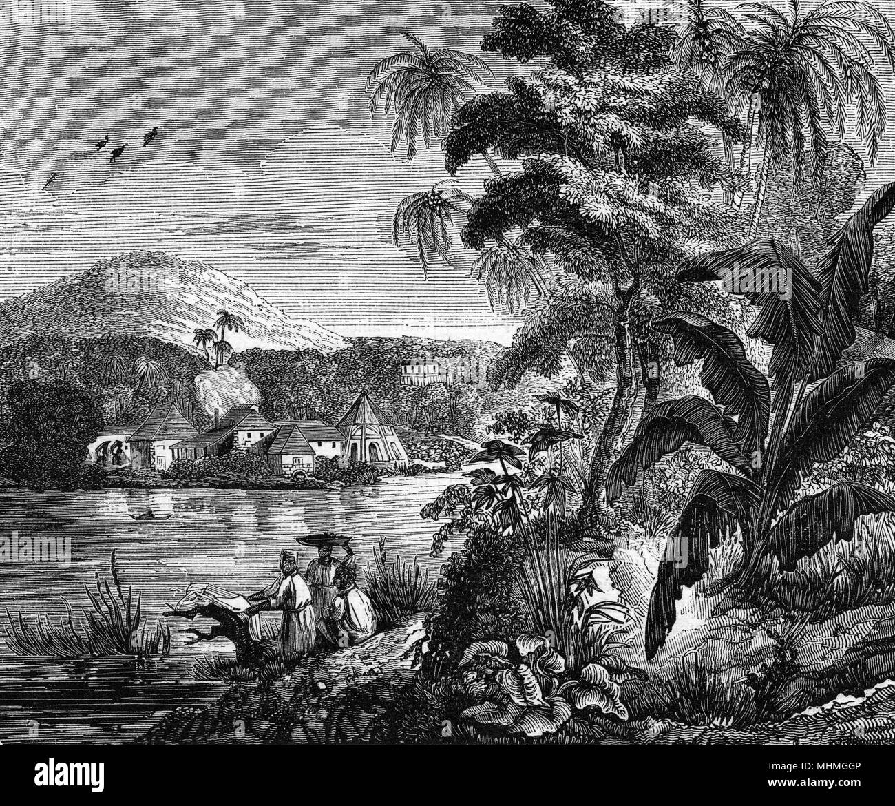 A sugar planation,        Date: 1837 Stock Photo