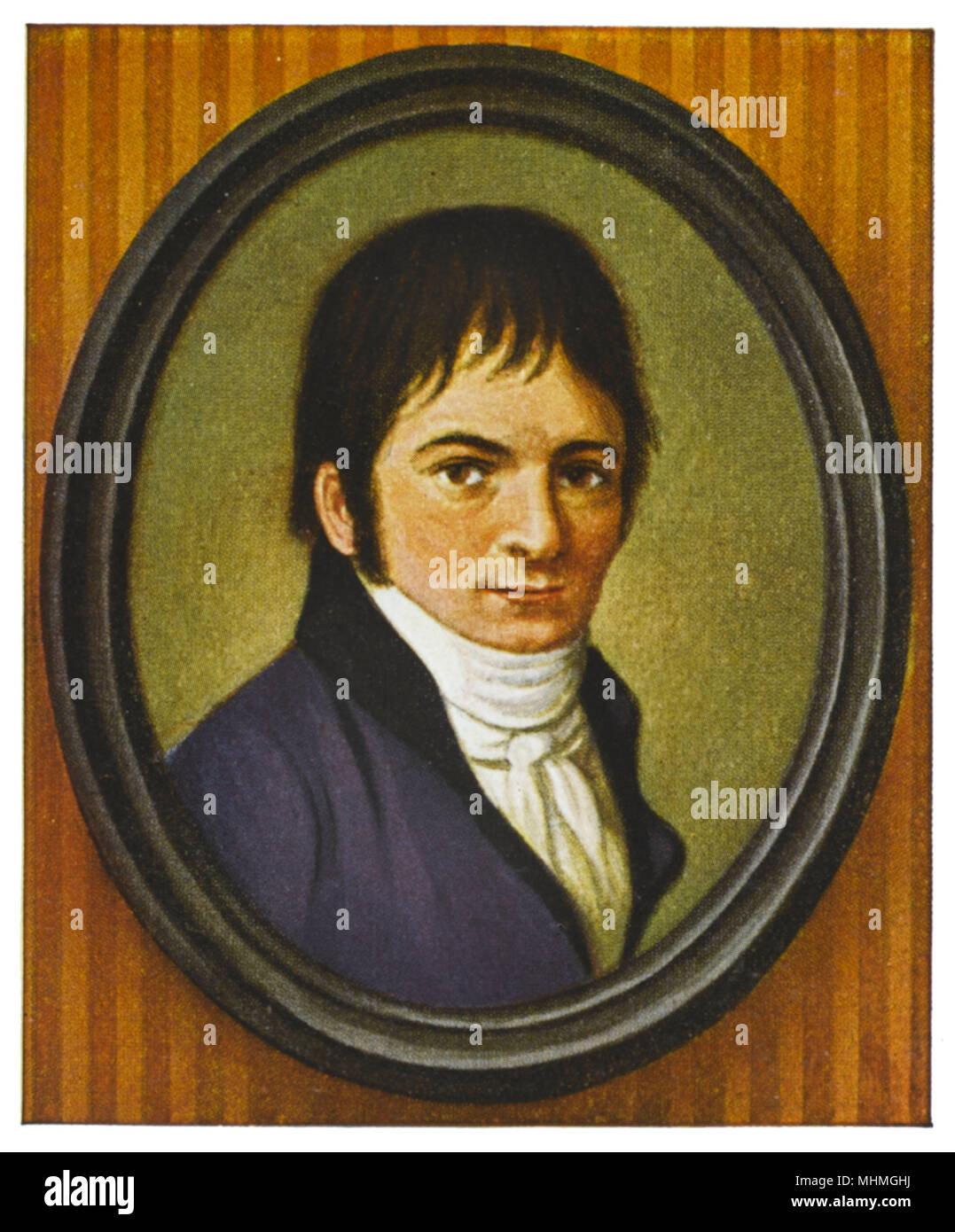 LUDWIG VAN BEETHOVEN Portrait at age 32       Date: 1770 - 1827 - Stock Image