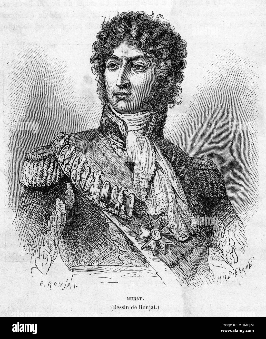 JOACHIM MURAT - as decorated soldier       Date: 1767 - 1815 - Stock Image