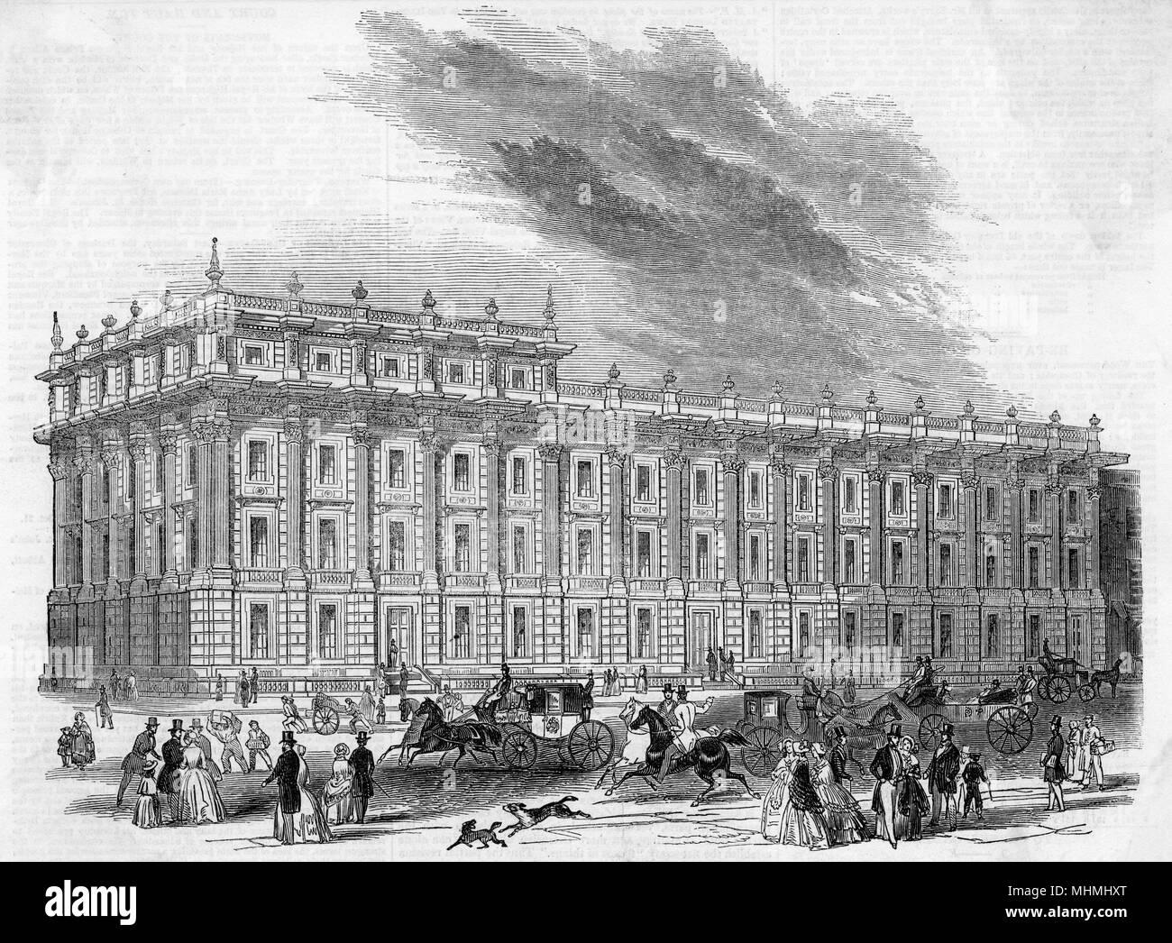 Office of the Privy Council, Whitehall, designed by Sir Charles Barry       Date: 1846 - Stock Image