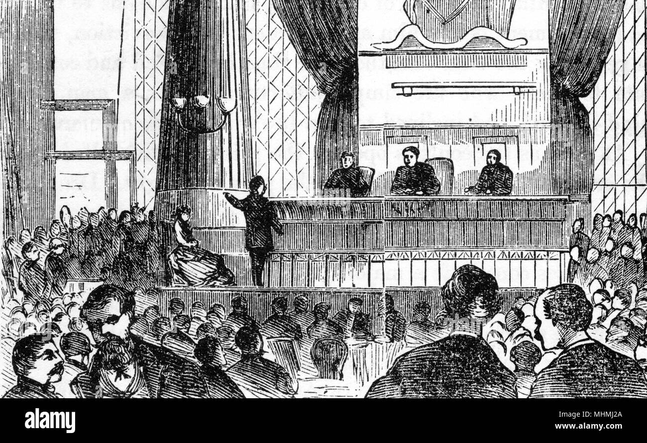 Court of special sessions, New York       Date: 1872 - Stock Image