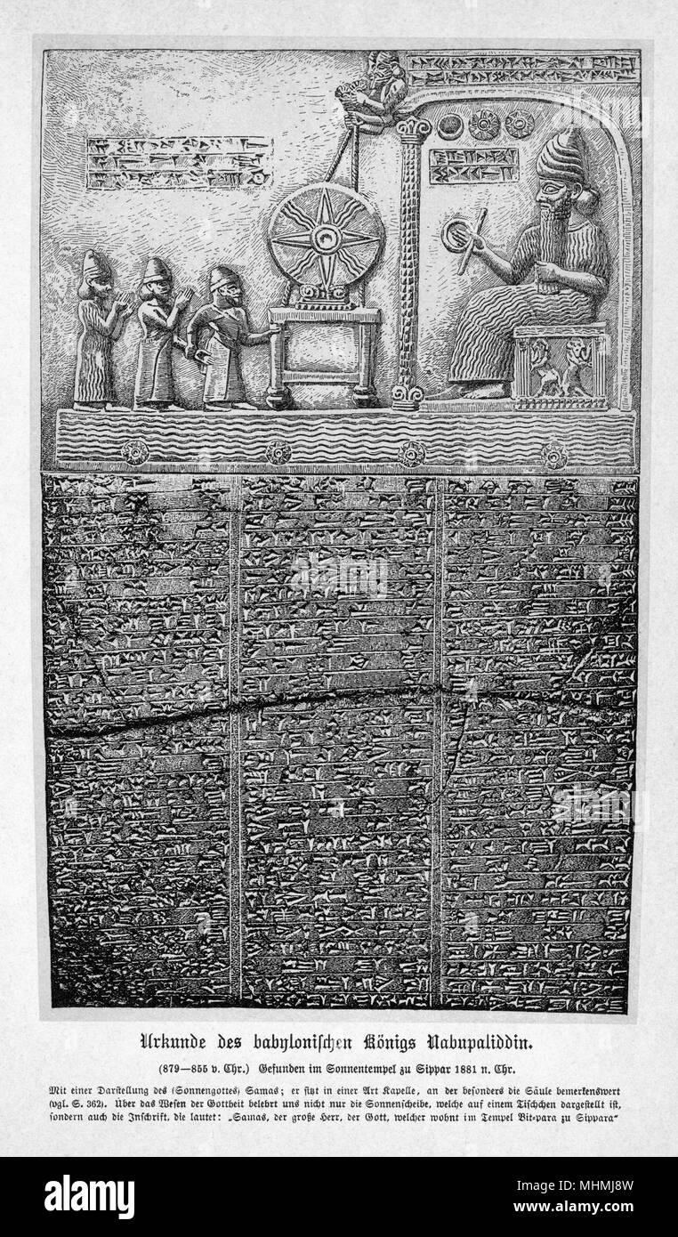 Babylonian tablet inscription - Stock Image